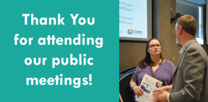 Thank you for attending our public meeting.
